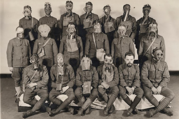 Soldiers in gas masks (Reuters / Archive of Modern Conflict, London)