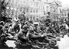 British troops deployed to Belgium, August 22, 1914