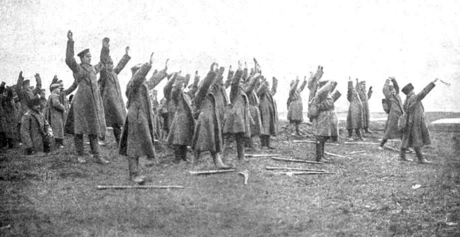 Russian troops surrender at Tannenberg, Eastern Front, August 1914