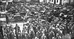 Russian prisoners at Tannenberg, August 1914