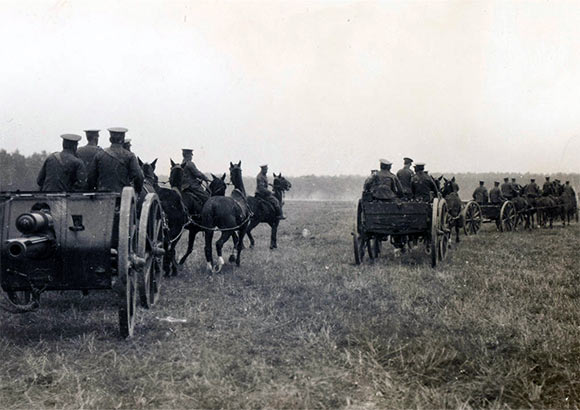 British artillery at Le Cateau, France, August 1914