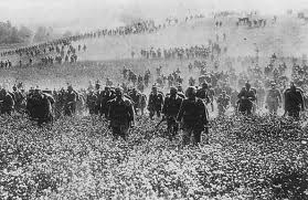 German troops advance on the Western Front, date and place uncertain.