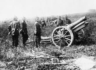 German heavy field howitzer, date unknown