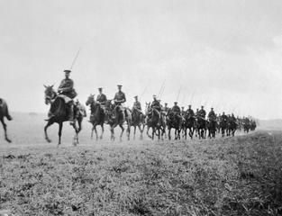 2nd Cavalry Division in retreat, France, August 1914