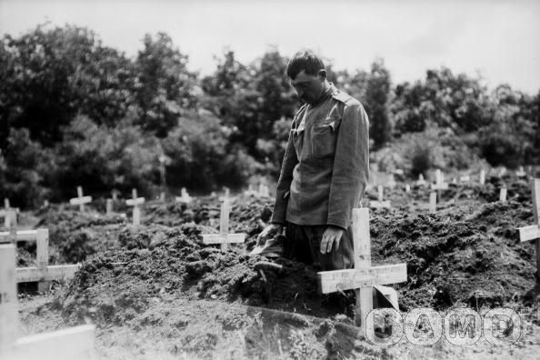 A World War One graveyard in Serbia, date unknown