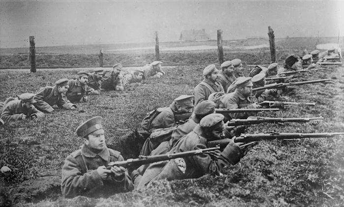 Russian troops in the fight for East Prussia, August 1914