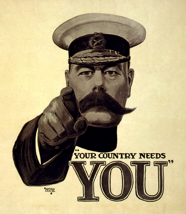 Poster of Lord Kitchener published 5 September 1915