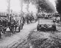 Russian troop movements in Poland, World War One, date uncertain
