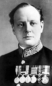 Winston Churchill, First Lord of the Admiralty, date uncertain