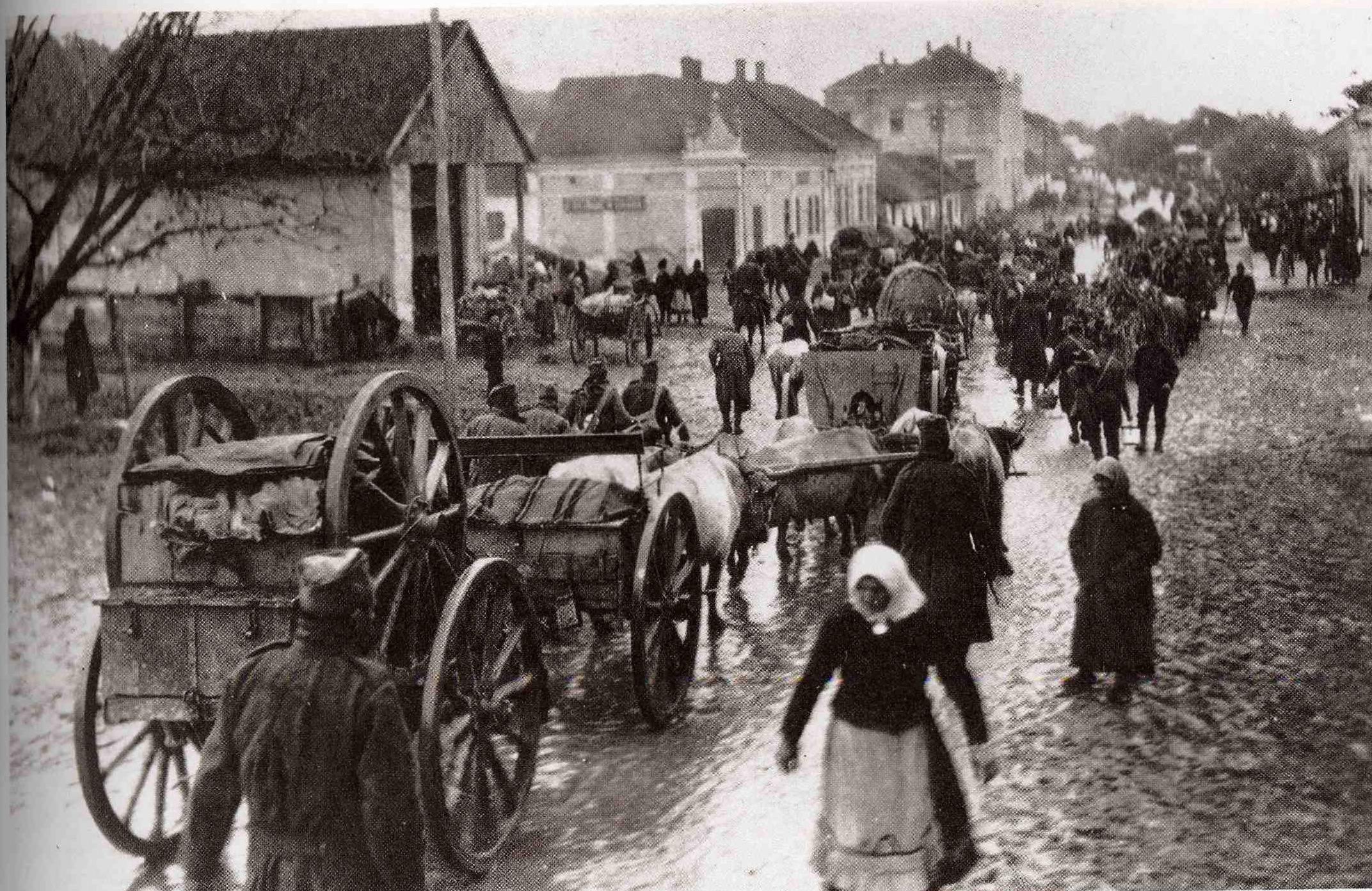 Refugees fleeing the fighting on the Eastern Front.