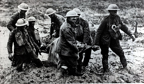 Mud and muck at the First Battle of Ypres, October 1914