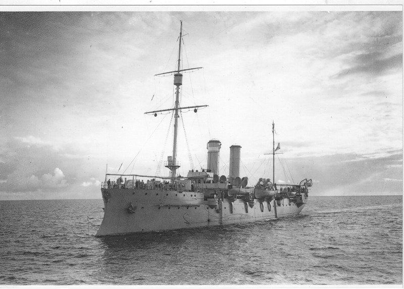 World War One Turkish warship, date and place uncertain