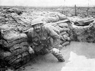 British trenches at Ypres, Belgium, date uncertain