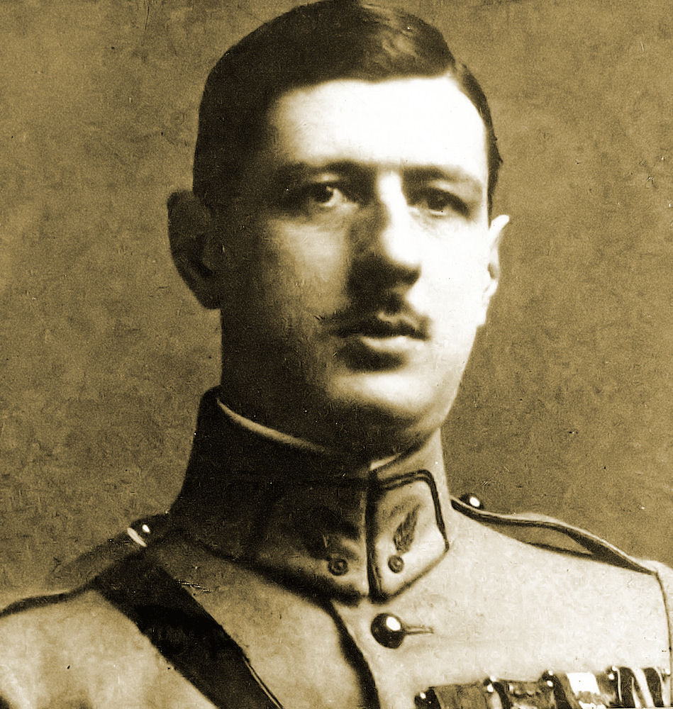 The young French officer, Charles de Gaulle