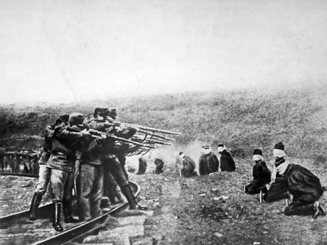 Troops of Austria-Hungary execute Serbs, date uncertain