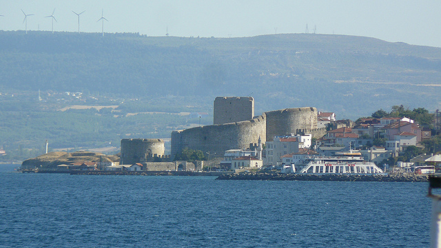 One of the ancient forts built on the Dardanelle Straits