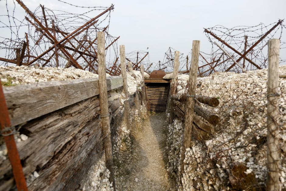 Barbed wire is so thick in some areas of the Western Front, it makes the movement of soldiers nearly impossible.