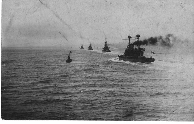 The  British fleet at the Dardanelles, 19 February 1915.