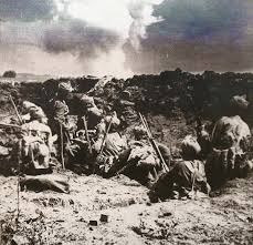 Indian troops in combat at Neuve Chapelle, March 1915