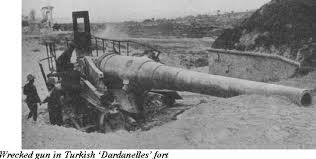 Turkish guns on the Dardanelles, circa March 1915