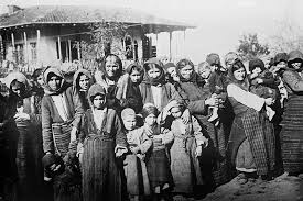 Armenian women and children expelled from their homes in Turkey, 1915.