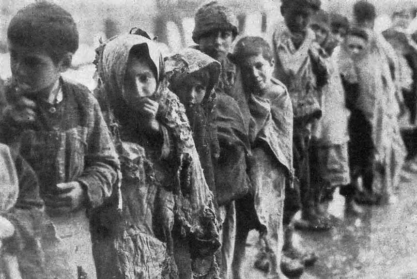 Deported Armenian children, date uncertain, 1915.