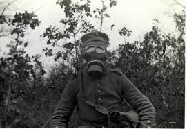 Germans prepare for gas attack, distribute gas masks, April 1915.