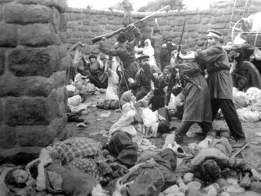 The killing of Armenians in Turkey, date uncertain, 1915.