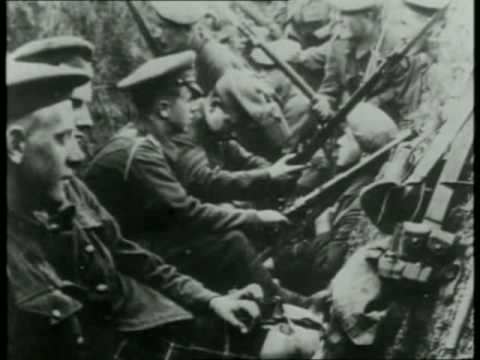 Russian troops waiting for order to charge, Battle of Gorlice and Tarnw, May 1915.