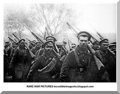 Russian peasant soldiers, Eastern Front 1915.