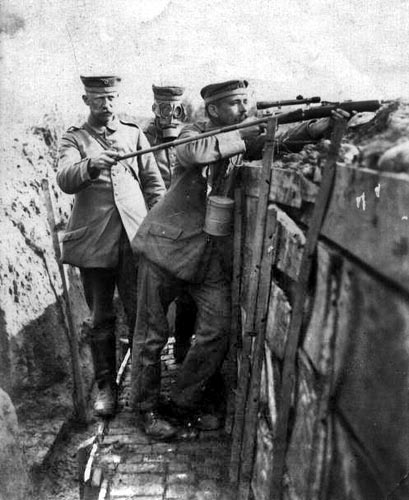 Turkish sniper on Gallipoli, spring 1915