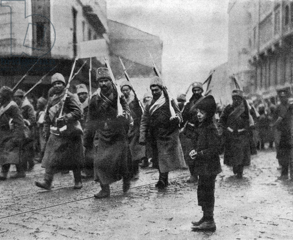 Early in the war, Russians capture Lemberg (Lviv) from Austria-Hungary.