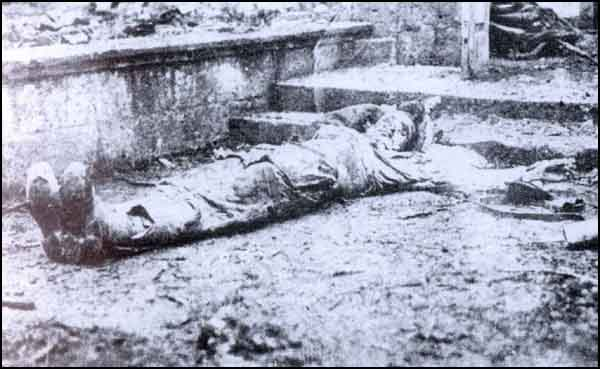 A victim of the Turkish slaughter of Armenians in Trebizond, summer 1915.