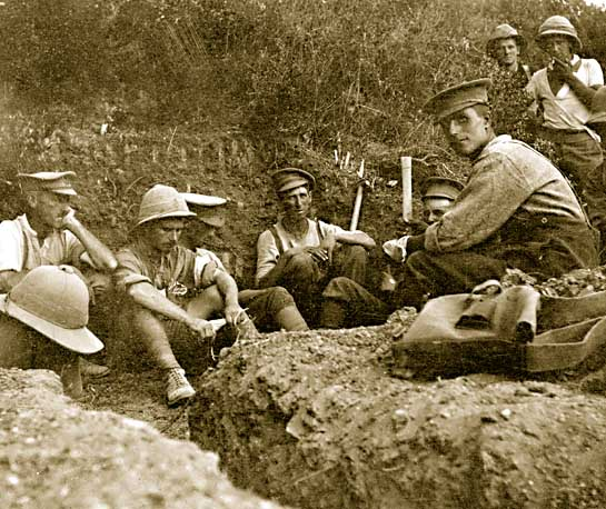 New Zealand troops rest during battle for Chunuk Bair, August 1915.