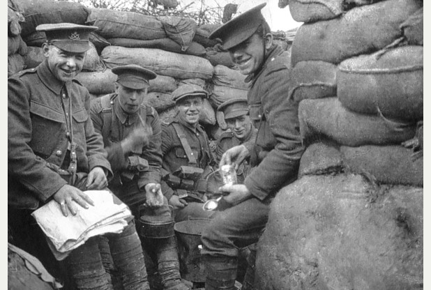 Allied troops prepare for new offensive on Western Front, place and date uncertain.