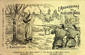 Accurate depiction of Cavell's execution published in a French newspaper.