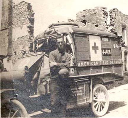 American Field Service ambulance driver, date and place unknown.