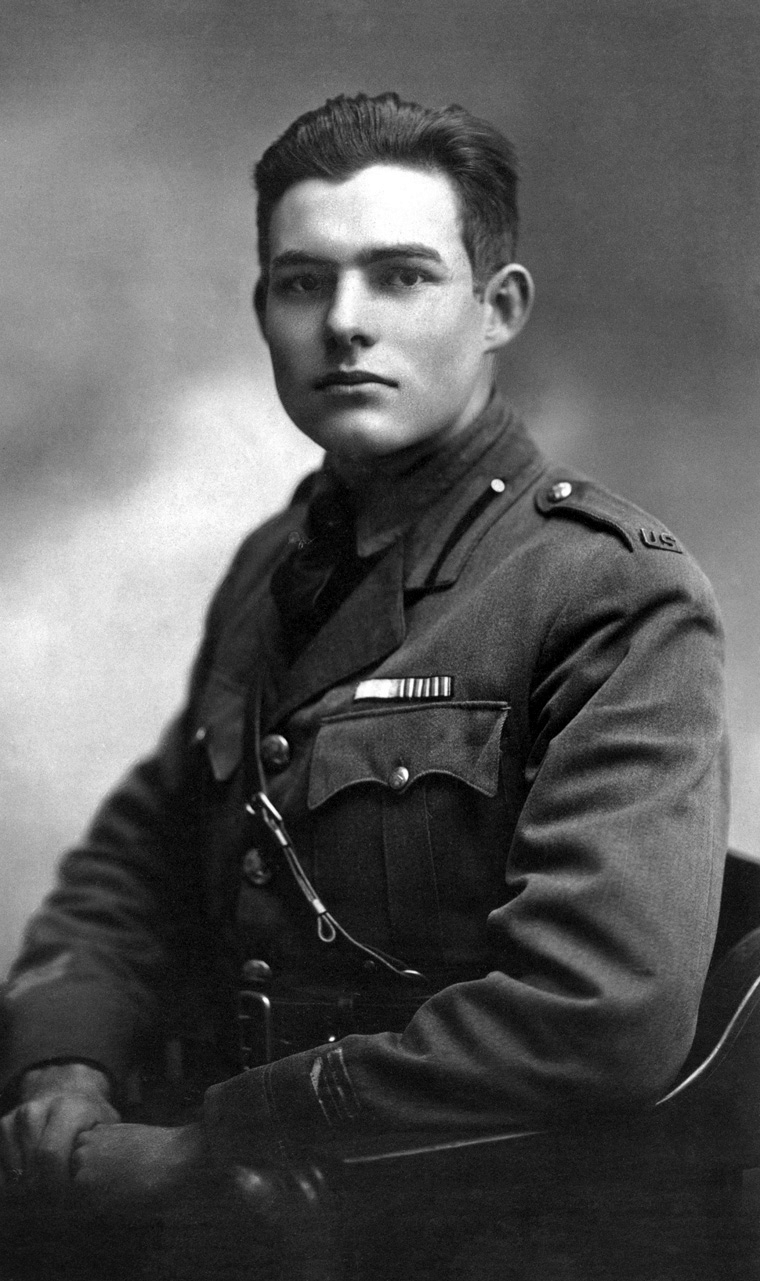 "EH 2723P Milan, 1918 Ernest Hemingway, American Red Cross volunteer. Portrait by Ermeni Studios, Milan, Italy. Please credit ""Ernest Hemingway Photograph Collection, John F. Kennedy Presidential Library and Museum, Boston""."