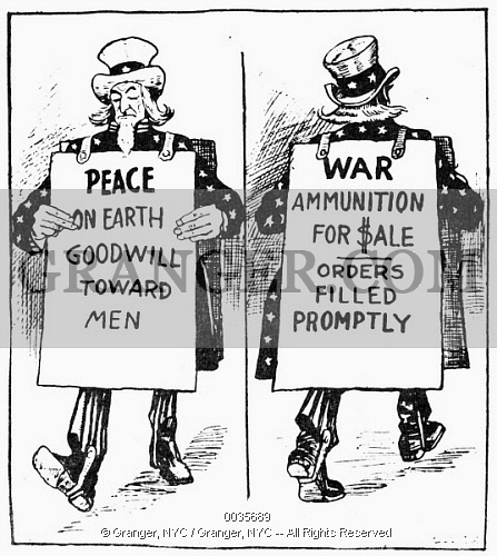 American cartoon critical of American neutrality policy.