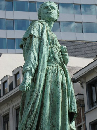Statue of Gabrielle Petit, executed spy, in central Brussels