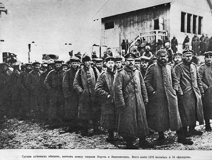 German POWs on the Russian front at Naroch, 1916.