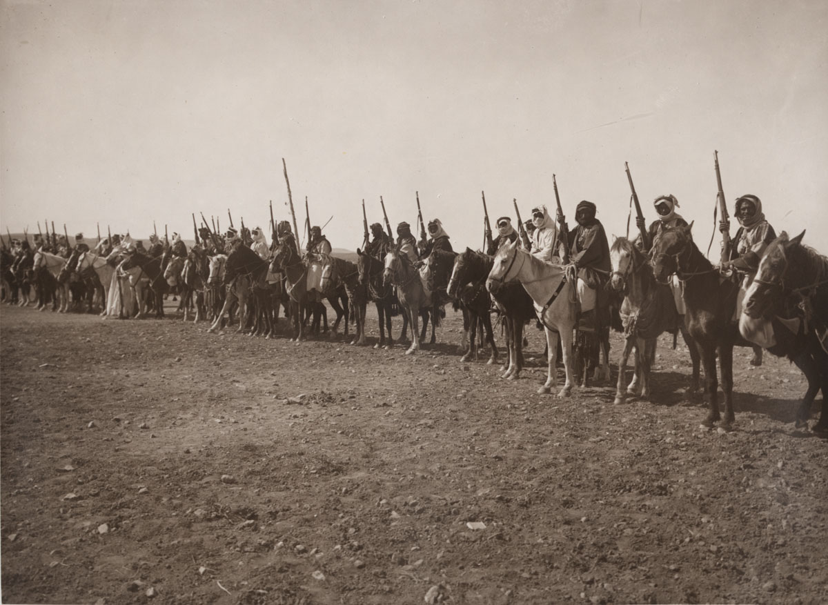Arab tribesmen, enlisted for the Arab Revolt 1916.