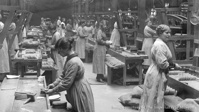 Women workers in British munitions factory.