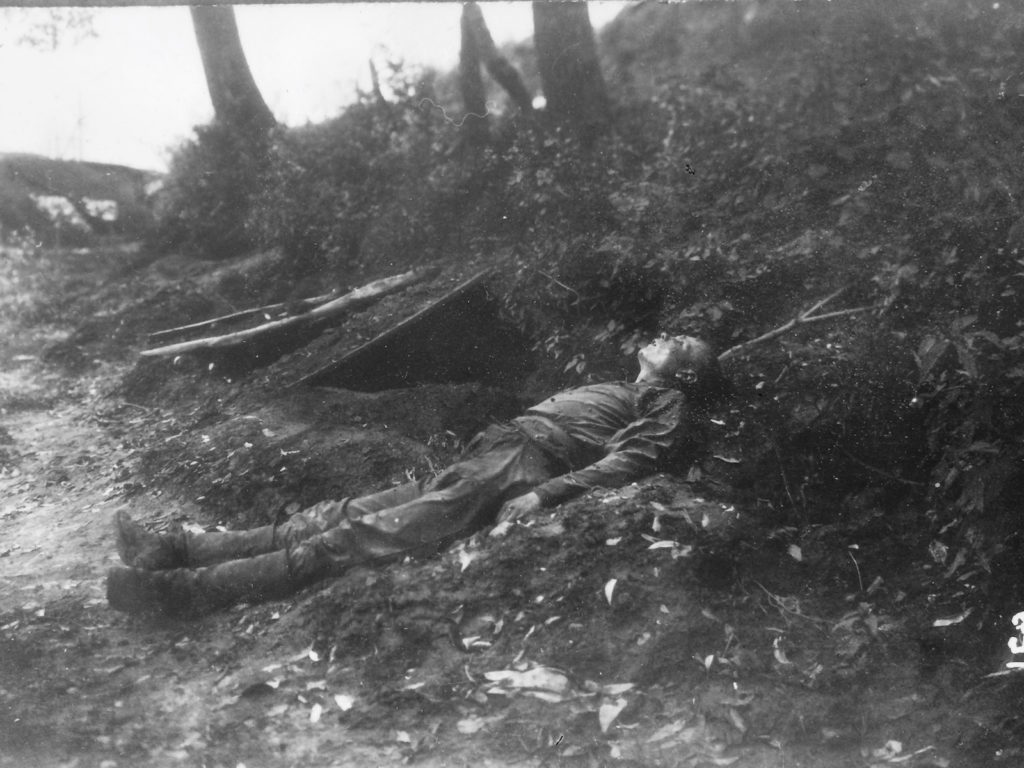 Dead soldiers during the Brusilov offensive.