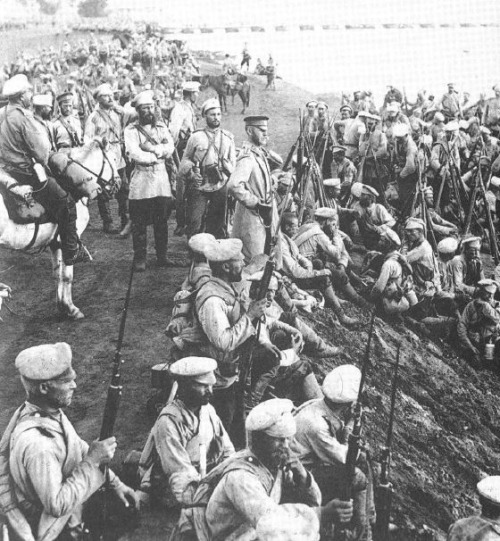 Russian troops are readied for Brusilov offensive on Eastern Front, June 1916.
