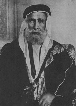 Sherif Hussein of Mecca, leader of the Arab Revolt.