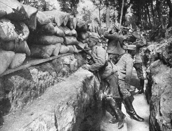 German trenches at the Somme, July 1916.