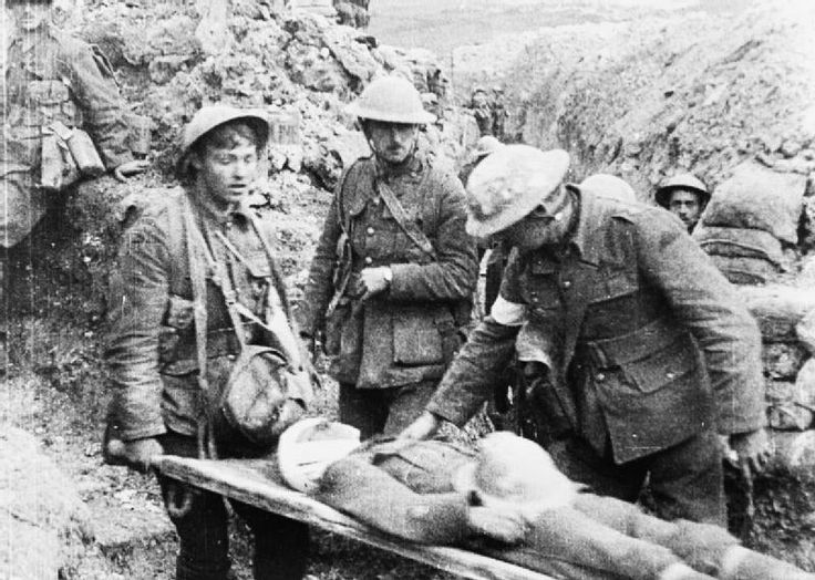 British wounded at the Somme.