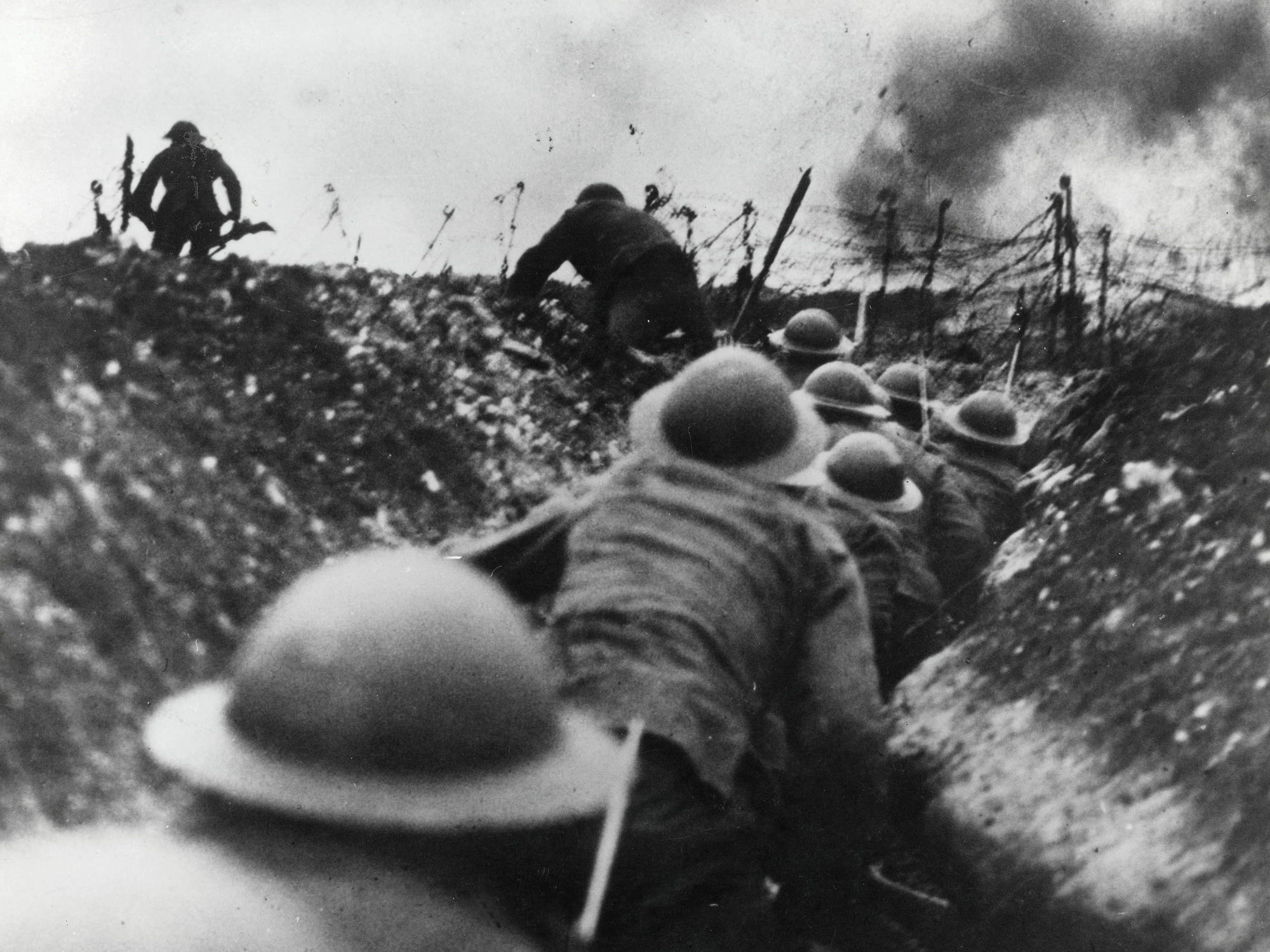 British infantry on the attack, circa July 1916.