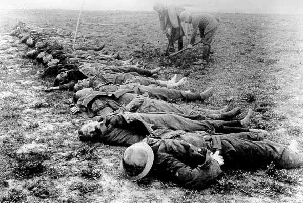 The dead at tje Somme, summer 1916